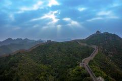 Porcelanowy Jinshanling wielki mur w Hebei Zdjęcia Stock