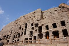 porcelanowy kulturalny datong grot dziedzictwo lokalizować światowego yungang Zdjęcie Royalty Free