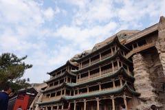 porcelanowy kulturalny datong grot dziedzictwo lokalizować światowego yungang Obraz Stock