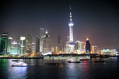porcelanowy noc Shanghai widok Zdjęcie Royalty Free