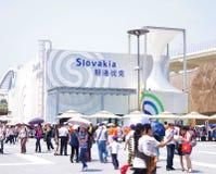 porcelanowy pawilon expo2010 Shanghai Slovakia Zdjęcia Royalty Free