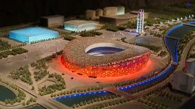 Porcelanowy Pekin Olimpijskiego parka piaska stołu model zdjęcia royalty free