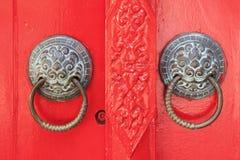 Porcelanowy puknięcia drzwi Fotografia Royalty Free