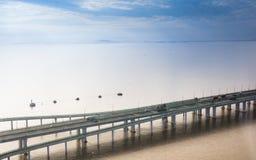 Porcelanowy ` s Hangzhou zatoki most Fotografia Royalty Free