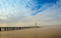 Porcelanowy ` s Hangzhou zatoki most Zdjęcie Royalty Free