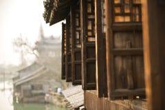 Porcelanowy Stary miasto, Wuzhen Historic〠'krajobraz zdjęcia stock