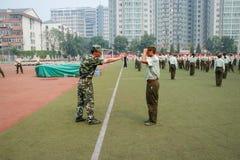 Porcelanowy studenta collegu szkolenie wojskowe 22 Obrazy Stock