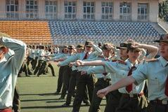 Porcelanowy studenta collegu szkolenie wojskowe 29 Obrazy Royalty Free