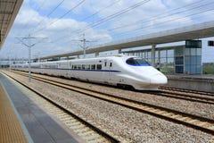 Porcelanowy szybkościowy pociąg Fotografia Stock