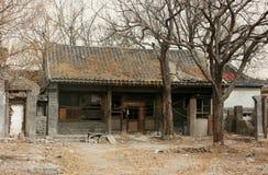 Porcelanowy tradycyjny mieszkaniowy dom znika Fotografia Stock