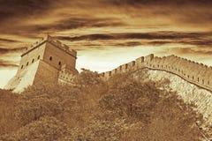porcelanowy wielki mur Obraz Stock
