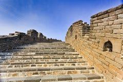 Porcelanowy wielkiego muru schody 2 niebo Zdjęcie Royalty Free