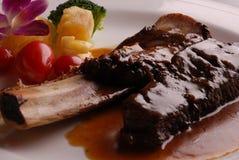 porcelanowy wyśmienicie jedzenie smażący wieprzowiny ziobro Obrazy Royalty Free