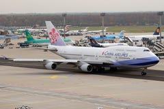 porcelanowych 747 linii lotniczych Obrazy Royalty Free