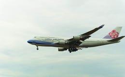 porcelanowych 747 linii lotniczych Zdjęcie Stock