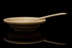 Porcelany łyżka i talerz Obraz Stock