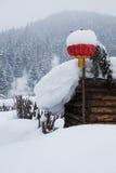 Porcelany śnieżny miasteczko Zdjęcie Royalty Free