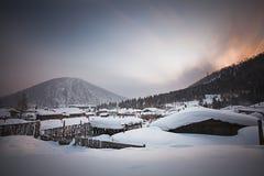 Porcelany śnieżny miasteczko Obrazy Royalty Free