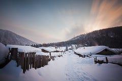 Porcelany śnieżny miasteczko Obraz Royalty Free