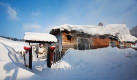 Porcelany śnieżny miasteczko Fotografia Royalty Free