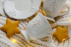 Porcelany biały filiżanka Zdjęcie Royalty Free