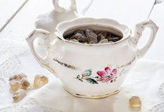 Porcelany cukierniczka Zdjęcia Stock