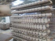 Porcelany fabryka Obraz Royalty Free