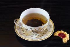 Porcelany filiżanki mit biała herbata Fotografia Royalty Free