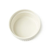 Porcelany souffle ramekin naczynie odizolowywający obraz royalty free