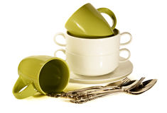 Porcelany tableware Fotografia Stock