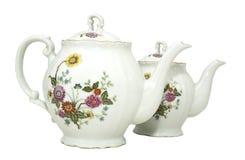 porcelany teapot dwa Obraz Stock