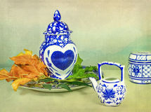Porcellana asiatica con cuore Fotografie Stock