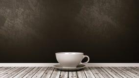 Porcellana bianca piccola tazza bevente nella stanza illustrazione di stock