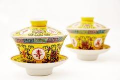 Porcellana cinese del tè Immagini Stock Libere da Diritti