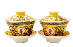 Porcellana cinese del tè Immagine Stock Libera da Diritti
