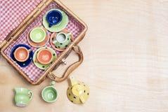 Porcellana colorata Fotografia Stock