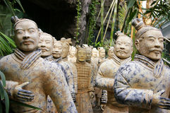 Porcellana dei guerrieri di terracotta Fotografia Stock