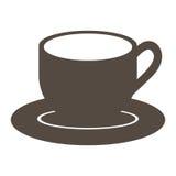 porcellana del piatto della siluetta con l'icona della tazza royalty illustrazione gratis