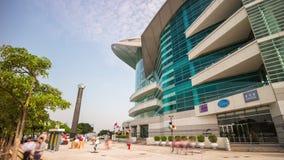porcellana di lasso di tempo di panorama 4k del centro di convenzione e di mostra di Hong Kong stock footage