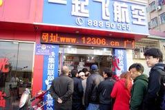 Porcellana di Shenzhen: compri i biglietti Fotografia Stock Libera da Diritti