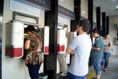 Porcellana di Shenzhen: corridoio di affari della banca immagine stock