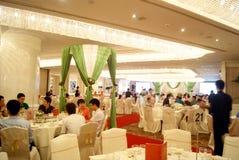 Porcellana di Shenzhen: corridoio di banchetto dell'hotel Fotografie Stock Libere da Diritti