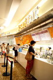 Porcellana di Shenzhen: negozi e consumatori del pane Fotografie Stock