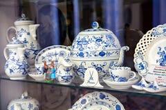 Porcellana famosa di Meissen di marchio di fabbrica Fotografia Stock Libera da Diritti
