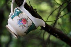 Porcellana nel legno Fotografie Stock