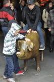 Porcellino salvadanaio al mercato di posto di luccio, Seattle, U.S.A. Immagine Stock