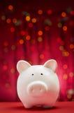 Porcellino salvadanaio di Natale Fotografia Stock Libera da Diritti