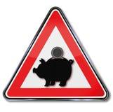 Porcellino salvadanaio ed investimento illustrazione di stock