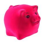 Porcellino salvadanaio rosa su un bianco Immagini Stock Libere da Diritti