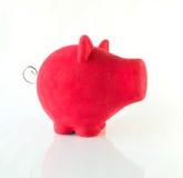 Porcellino salvadanaio rosso Immagine Stock Libera da Diritti